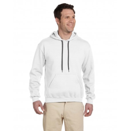 G925 Gildan G925 Adult Premium Cotton Adult 9 oz. Ringspun Hooded Sweatshirt WHITE