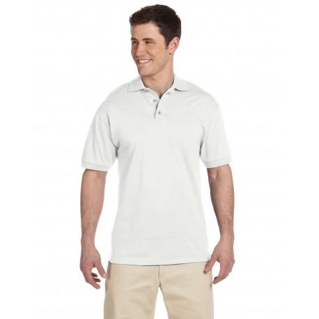 J100 Jerzees J100 Adult 6.1 oz. Heavyweight Cotton Jersey Polo WHITE