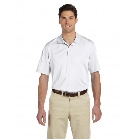 M354 Harriton M354 Men's Micro-Pique Polo WHITE