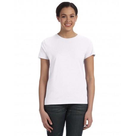 SL04 Hanes SL04 Ladies' 4.5 oz., 100% Ringspun Cotton nano-T T-Shirt WHITE