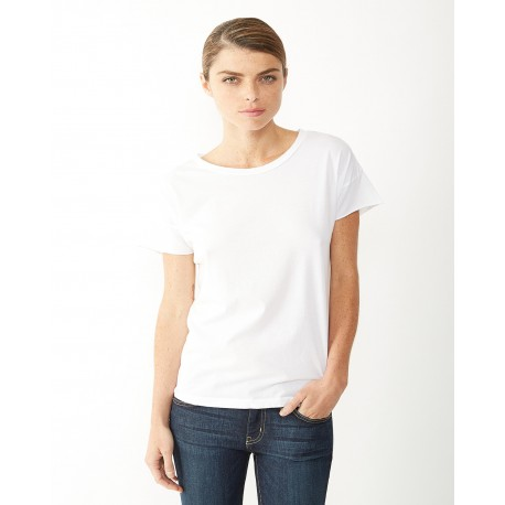 04134C1 Alternative 04134C1 Ladies' Rocker Garment-Dyed T-Shirt WHITE
