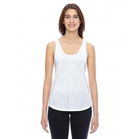 04031C1 Alternative 04031C1 Ladies' Shirttail Satin Jersey Tank WHITE