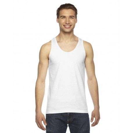 2408 American Apparel 2408 Unisex Fine Jersey USA Made Tank WHITE