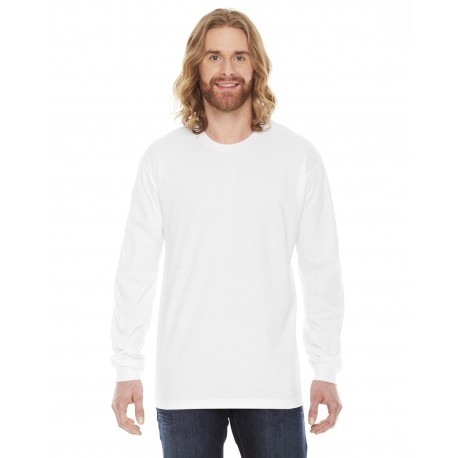 2007 American Apparel 2007 Unisex Fine Jersey USA Made Long-Sleeve T-Shirt WHITE