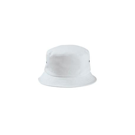 BA534 Big Accessories BA534 Metal Eyelet Bucket Cap WHITE