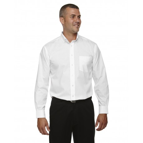 D620T Devon & Jones D620T Men's Tall Crown Woven Collection Solid Broadcloth WHITE