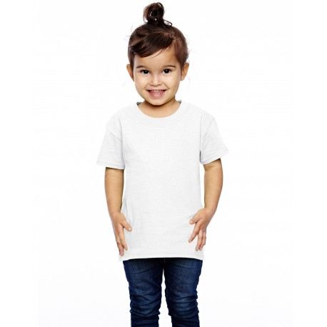 T3930 Fruit of the Loom T3930 Toddler 5 oz. HD Cotton T-Shirt WHITE