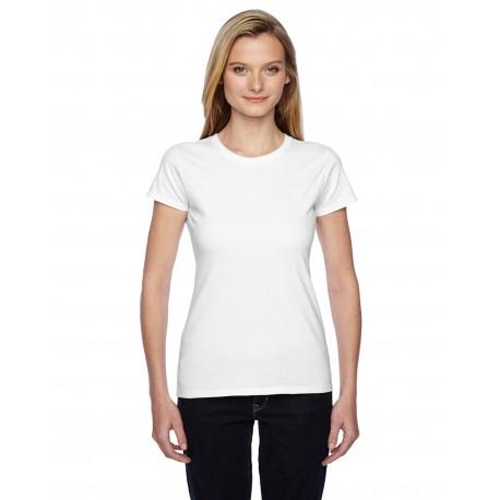 SSFJR Fruit of the Loom SSFJR Ladies' 4.7 oz. Sofspun Jersey Junior Crew T-Shirt WHITE