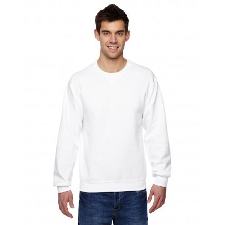 SF72R Fruit of the Loom SF72R Adult 7.2 oz. SofSpun Crewneck Sweatshirt WHITE