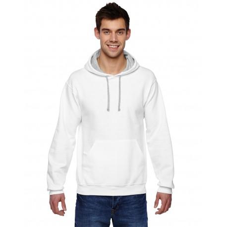 SF76R Fruit of the Loom SF76R Adult 7.2 oz. SofSpun Hooded Sweatshirt WHITE