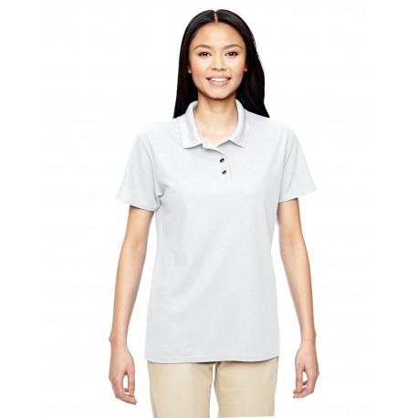 G458L Gildan G458L Ladies' Performance 5.6 oz. Double Pique Polo WHITE