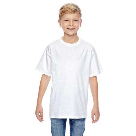498Y Hanes 498Y Youth 4.5 oz., 100% Ringspun Cotton nano-T T-Shirt WHITE