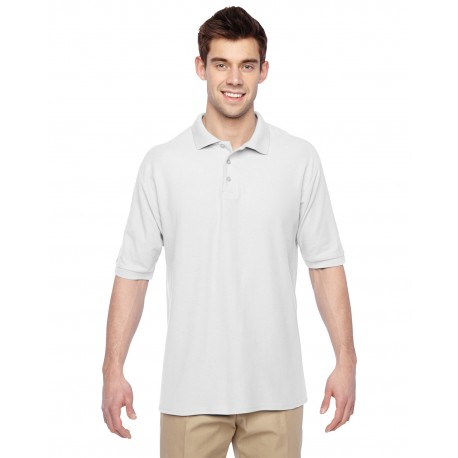 537MSR Jerzees 537MSR Adult 5.3 oz. Easy Care Polo WHITE