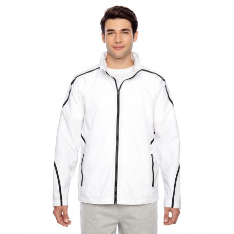 TT70 Team 365 TT70 Adult Conquest Jacket with Mesh Lining WHITE
