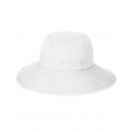 SL101 Adams SL101 Ladies' Sea Breeze Floppy Hat WHITE