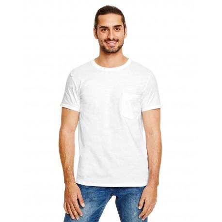 983 Anvil 983 Adult Lightweight Pocket T-Shirt WHITE