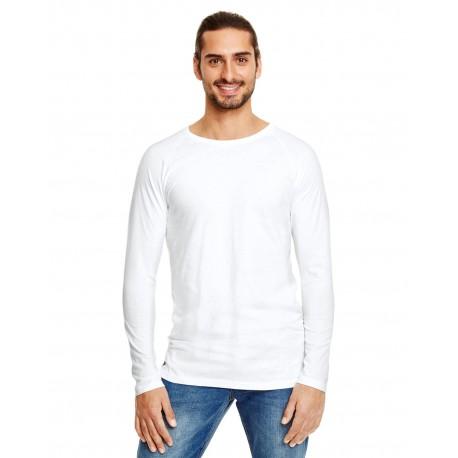 5628 Anvil 5628 Adult Lightweight Long & Lean Raglan Long-Sleeve T-Shirt WHITE