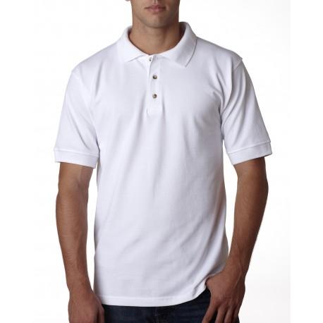 BA1000 Bayside BA1000 Adult Adult Pique Polo WHITE