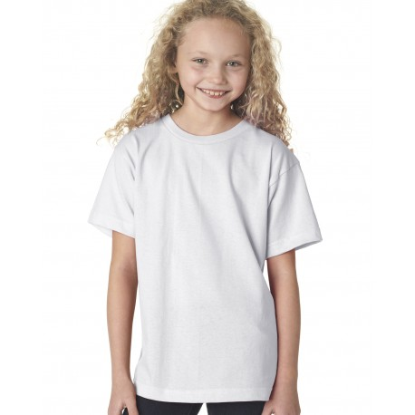 BA4100 Bayside BA4100 Youth Short-Sleeve T-Shirt WHITE