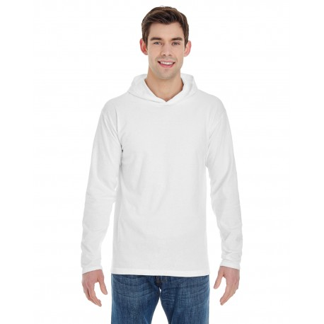 4900 Comfort Colors 4900 Adult Heavyweight RS Long-Sleeve Hooded T-Shirt WHITE