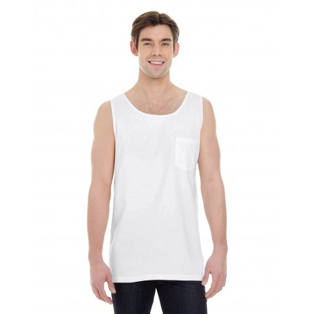 9330 Comfort Colors 9330 Adult Heavyweight RS Pocket Tank WHITE