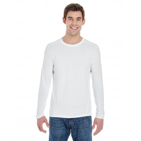 G474 Gildan G474 Adult Performance Adult 4.7 oz. Long-Sleeve Tech T-Shirt WHITE