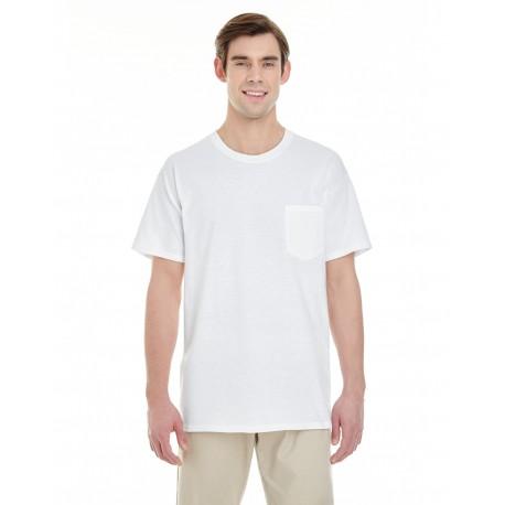 G530 Gildan G530 Adult 5.3 oz. Pocket T-Shirt WHITE