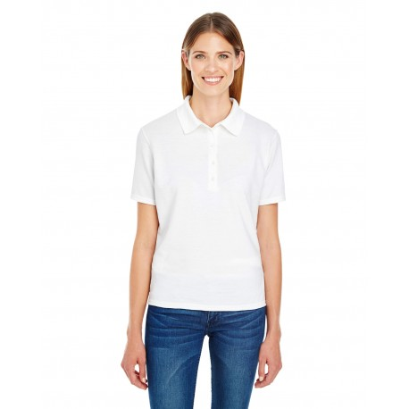 035P Hanes 035P Ladies' 6.5 oz. X-Temp Pique Short-Sleeve Polo with Fresh IQ WHITE