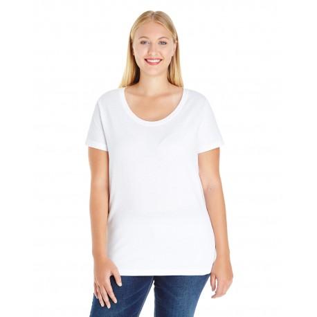3804 LAT 3804 Ladies' Curvy Premium Jersey T-Shirt WHITE