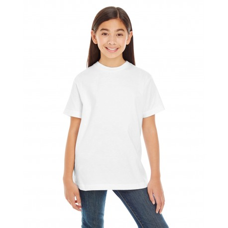6180 LAT 6180 Youth Premium Jersey T-Shirt WHITE