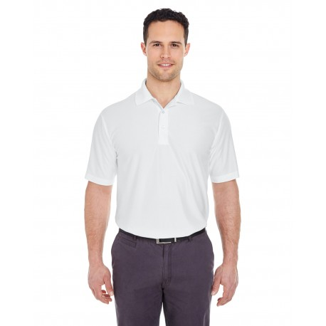 8415 UltraClub 8415 Men's Cool & Dry Elite Performance Polo WHITE