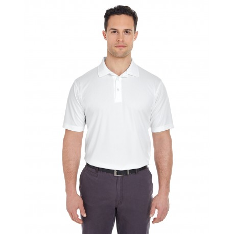 8210T UltraClub 8210T Men's Tall Cool & Dry Mesh Pique Polo WHITE