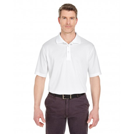 8405T UltraClub 8405T Men's Tall Cool & Dry Sport Polo WHITE