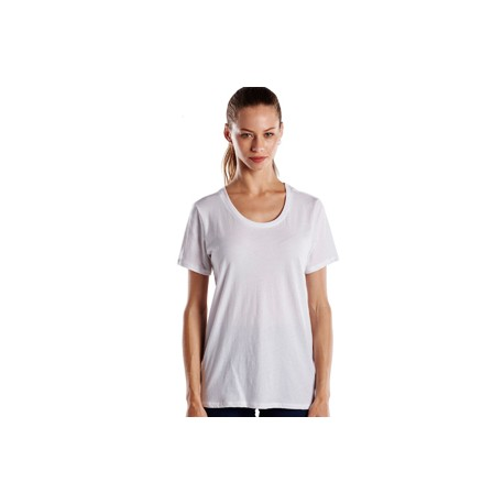 US115 US Blanks US115 Ladies' Short-Sleeve Loose Fit Boyfriend Tee WHITE
