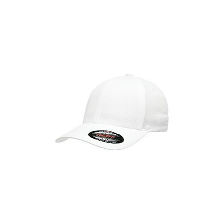 6587 Flexfit 6587 Adult Hydro Grid Stretch Cap WHITE
