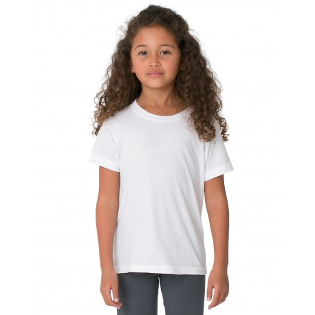 2105W American Apparel 2105W Toddler Fine Jersey Short-Sleeve T-Shirt WHITE
