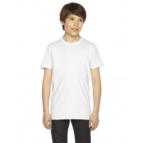 2201W American Apparel 2201W Youth Fine Jersey Short-Sleeve T-Shirt WHITE