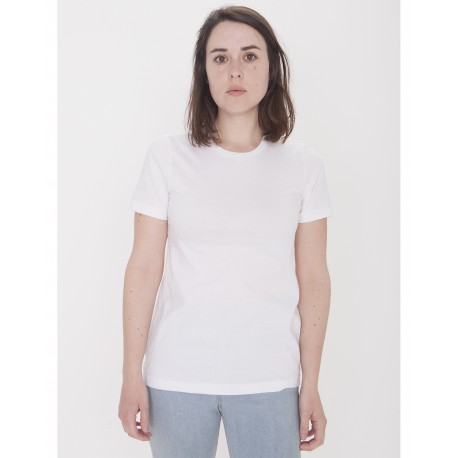 23215OW American Apparel 23215OW Ladies' Organic Fine Jersey Classic T-Shirt WHITE