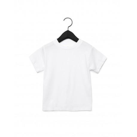 3001T Bella + Canvas 3001T Toddler Jersey Short-Sleeve T-Shirt WHITE