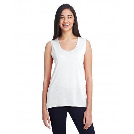 37PVL Anvil 37PVL Ladies' Freedom Sleeveless T-Shirt WHITE