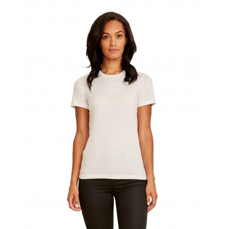 3900A Next Level 3900A Ladies' Made in USA Boyfriend T-Shirt WHITE
