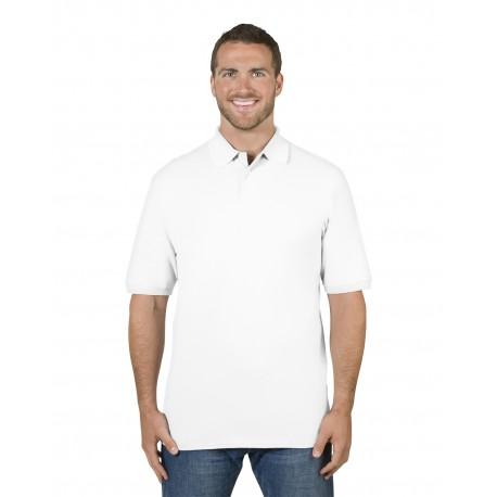 443MR Jerzees 443MR Adult 6.5 oz. Premium 100% Ringspun Cotton Pique Polo WHITE
