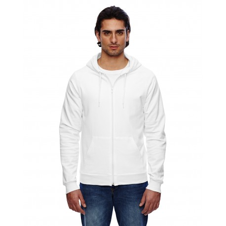 5497W American Apparel 5497W Unisex California Fleece Zip Hoodie WHITE