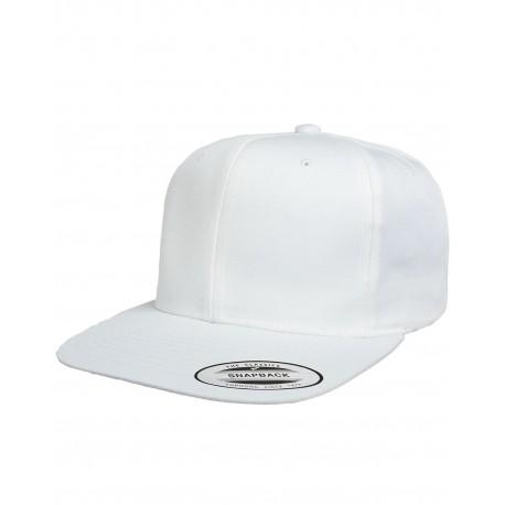 6308VW Yupoong 6308VW Pro-Style Cotton Twill Snapback WHITE