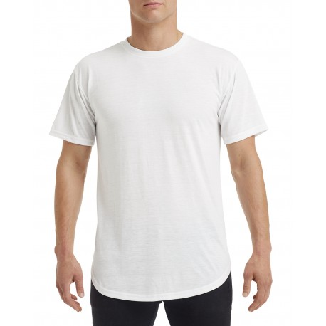 900C Anvil 900C Adult Curve T-Shirt WHITE