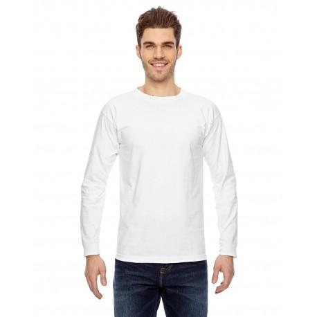 BA6100 Bayside BA6100 Adult Long-Sleeve T-Shirt WHITE