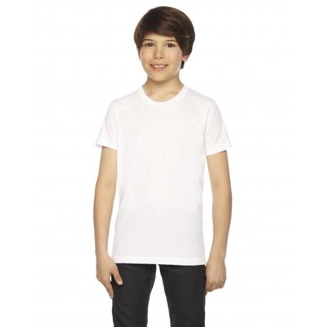 BB201W American Apparel BB201W Youth Poly-Cotton Short-Sleeve Crewneck WHITE