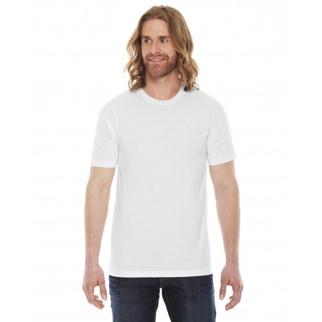 BB401W American Apparel BB401W Unisex Poly-Cotton Short-Sleeve Crewneck WHITE