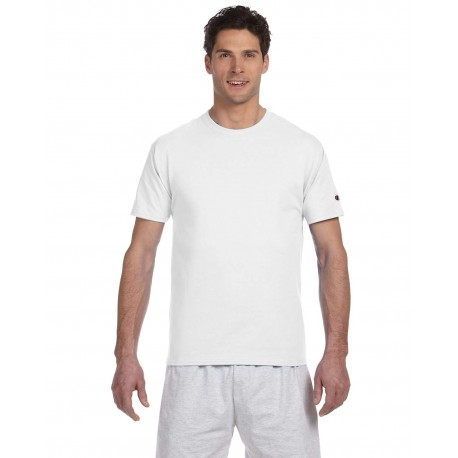 T525C Champion T525C / T425 Adult 6 oz. Short-Sleeve T-Shirt WHITE
