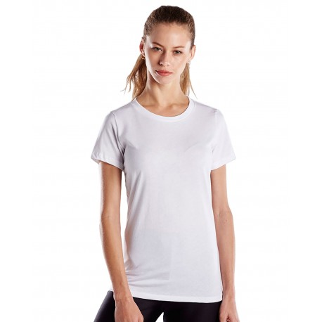 US100 US Blanks US100 Ladies' Made in USA Short Sleeve Crew T-Shirt WHITE